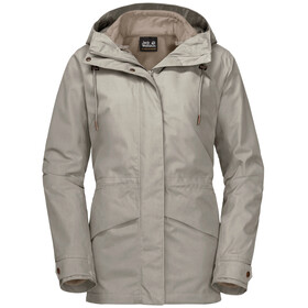 Jack Wolfskin Rochelle 3in1 Jacke Damen dusty grey